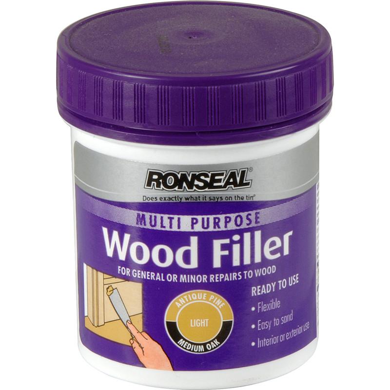 Ronseal Multi Purpose Wood Filler 250g Light Toolstation