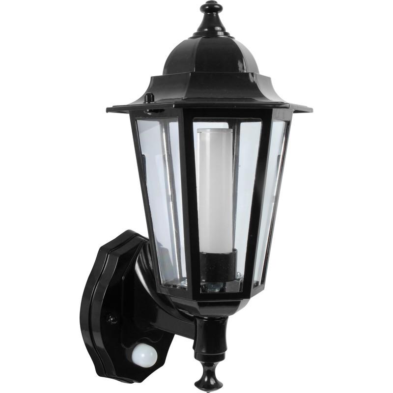 P Lux 8w Led Photocell Pir Coach Lantern Black Toolstation