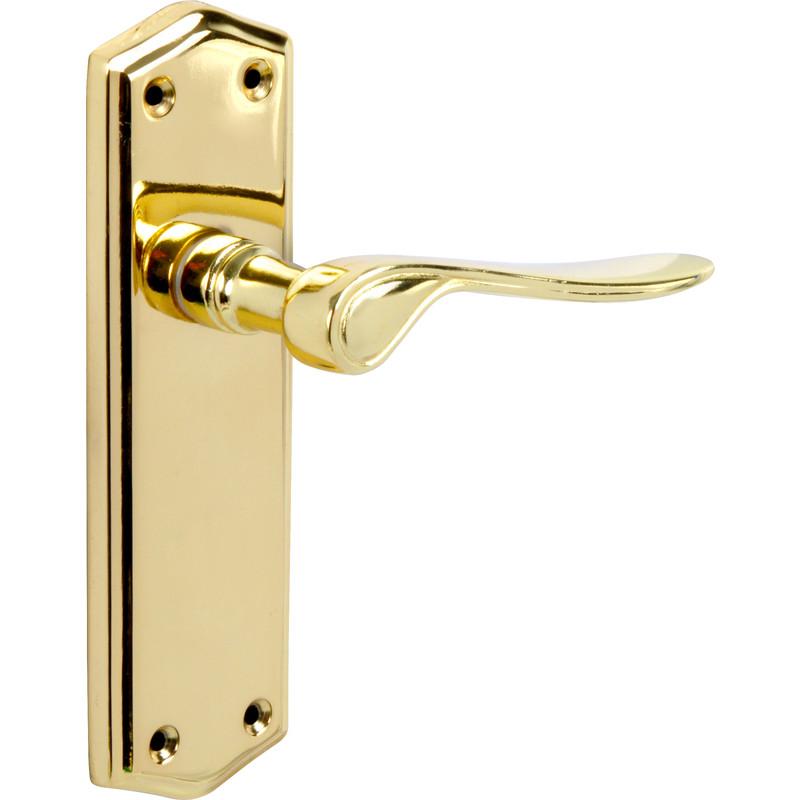 new 4 x door furniture salvesen brass handle latch 2 pack freepost