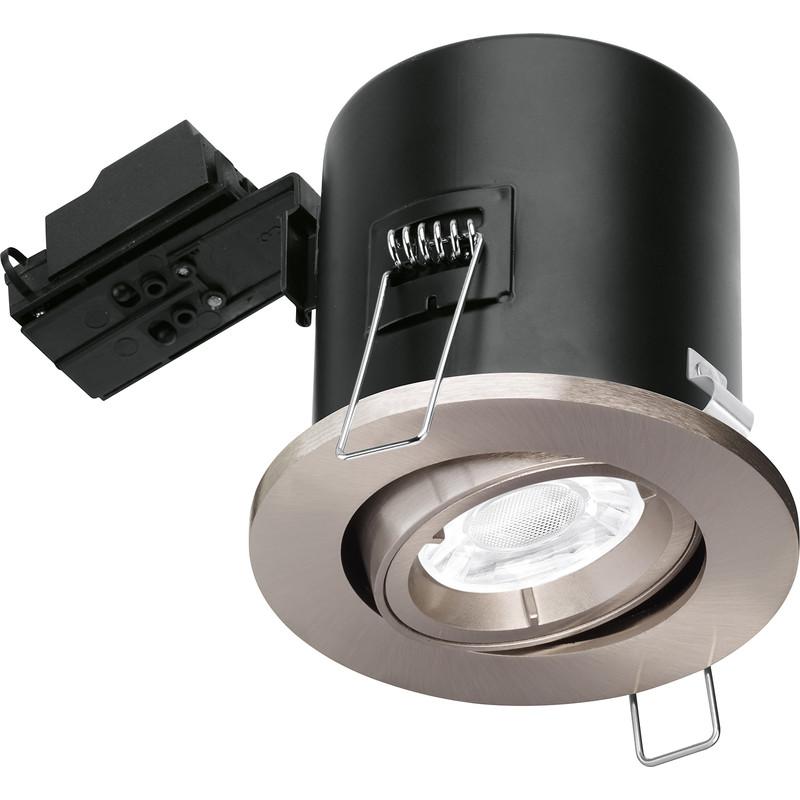 Best Rated Shop Lights: Enlite Adjustable Fire Rated GU10 Downlight EN-FD102SN