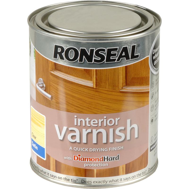 ronseal interior varnish 750ml satin clear toolstation