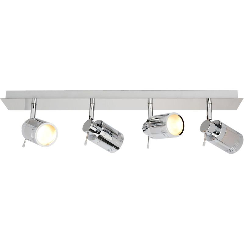 bora ip44 gu10 led 4 bar spot light 4 x 4w 370lm toolstation. Black Bedroom Furniture Sets. Home Design Ideas