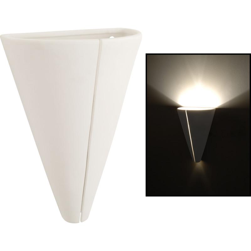 Screwfix Ceramic Wall Lights : Ceramic Cone Wall Light - Toolstation