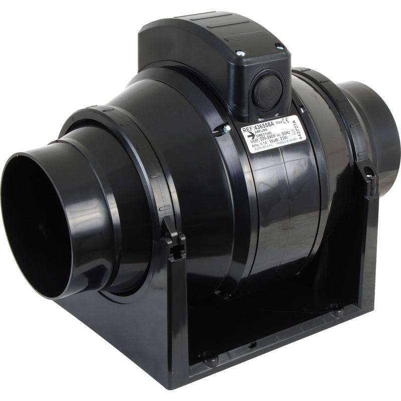 Mixed Flow Fan : Mm mixed flow inline extractor fan timer toolstation