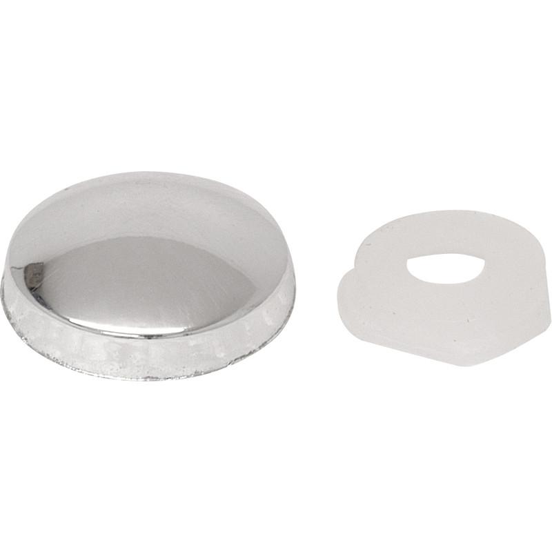 plastic dome screw cover polished chrome toolstation. Black Bedroom Furniture Sets. Home Design Ideas