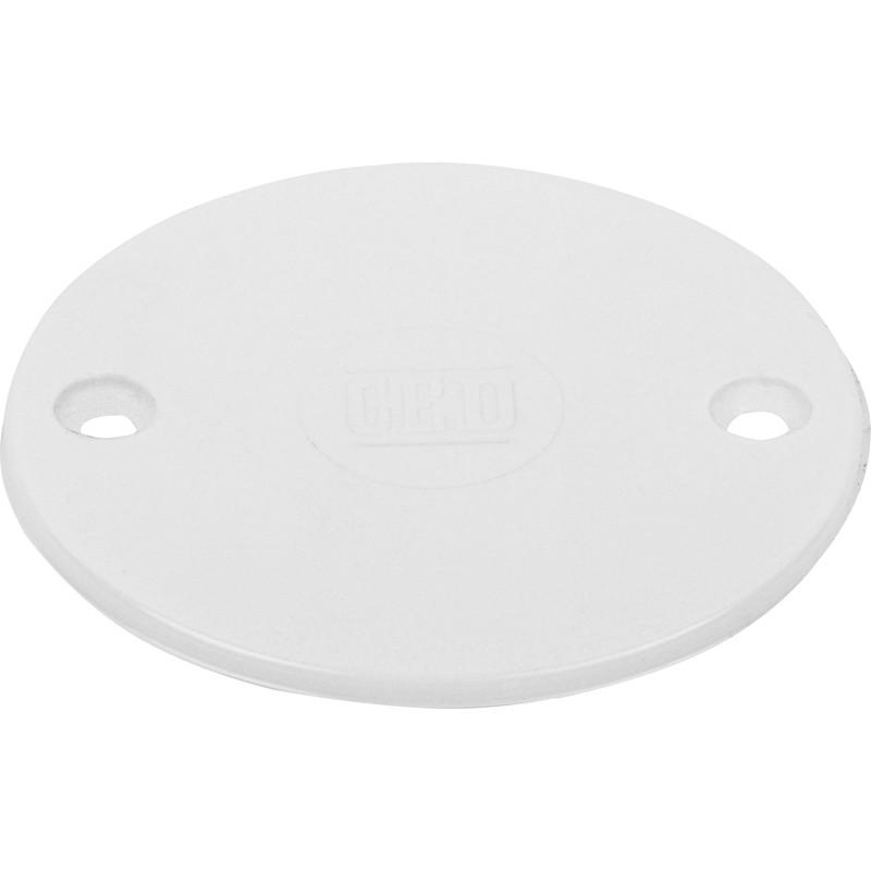 Pvc Box Lid Round White Toolstation