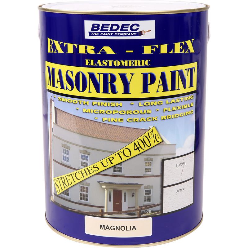Bedec Extra Flex Masonry Paint 5l Magnolia Toolstation