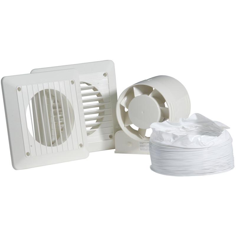 100mm in line shower extractor fan kit timer toolstation for Bathroom extractor fan kit
