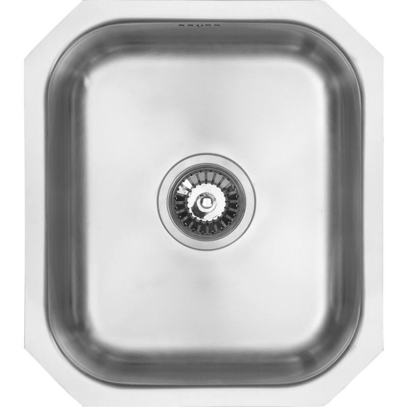 Undermount Single Bowl Kitchen Sink 460 x 400 x 185mm Deep -