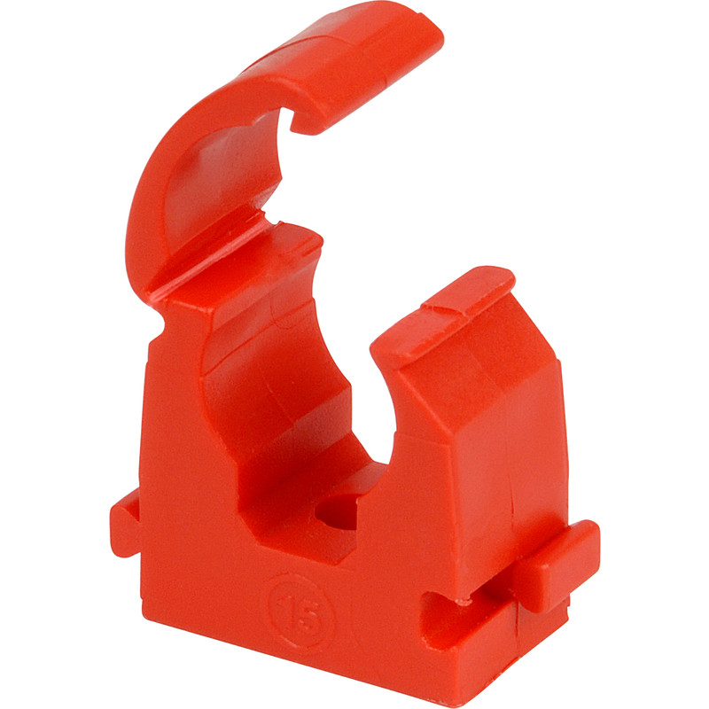 22mm Talon Hinged Clip Red   Pipe   100 Pack new