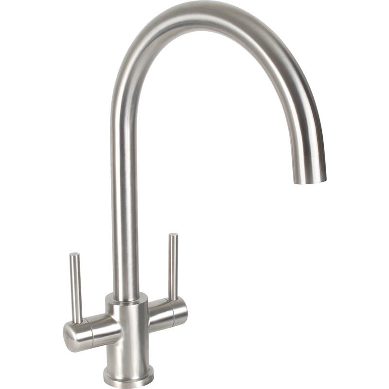 Sink Taps : Dava Stainless Steel Kitchen Sink Mixer Tap - Toolstation