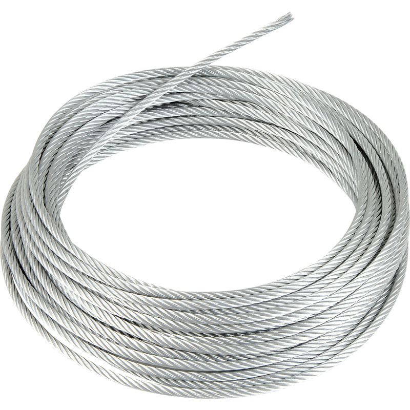 Steel Cable Wire : Galvanised wire rope mm m toolstation