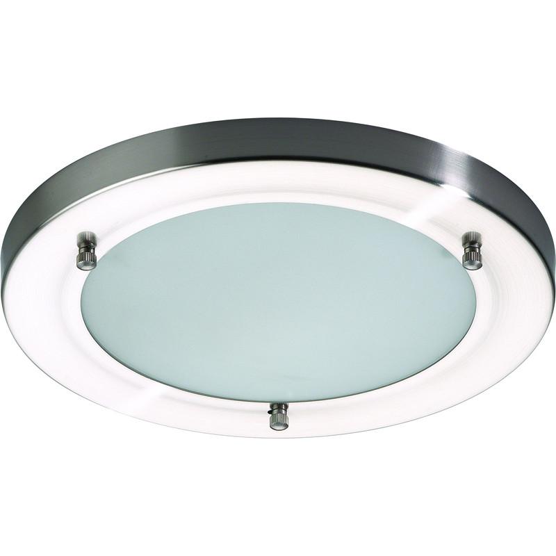 Mistral Ip44 G9 Led Satin Nickel Glass Bathroom Light 2