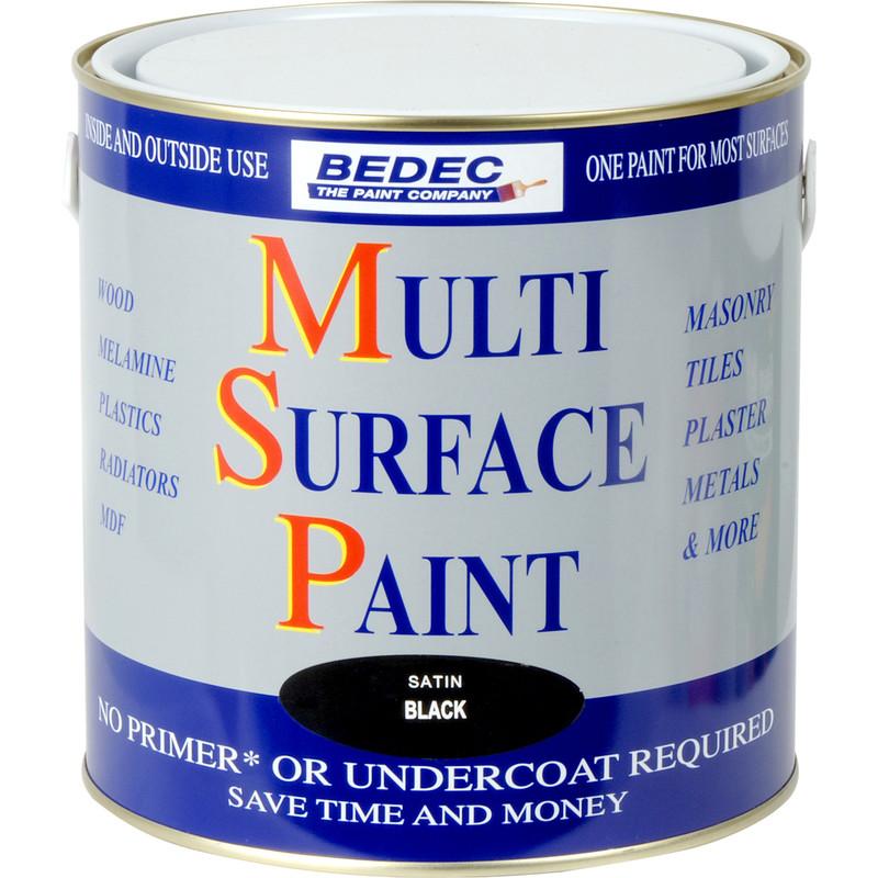 bedec multi surface paint satin black 2 5l toolstation. Black Bedroom Furniture Sets. Home Design Ideas