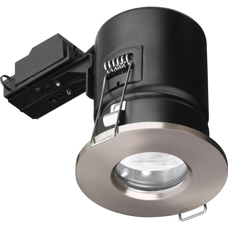 Best Rated Shop Lights: Enlite IP65 Fire Rated GU10 Downlight EN-FD103SN Satin