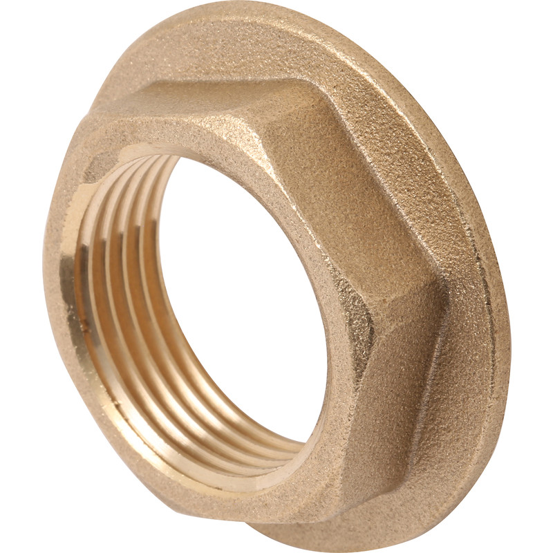 """Brass Flanged Backnut 1/2"""" - Toolstation"""