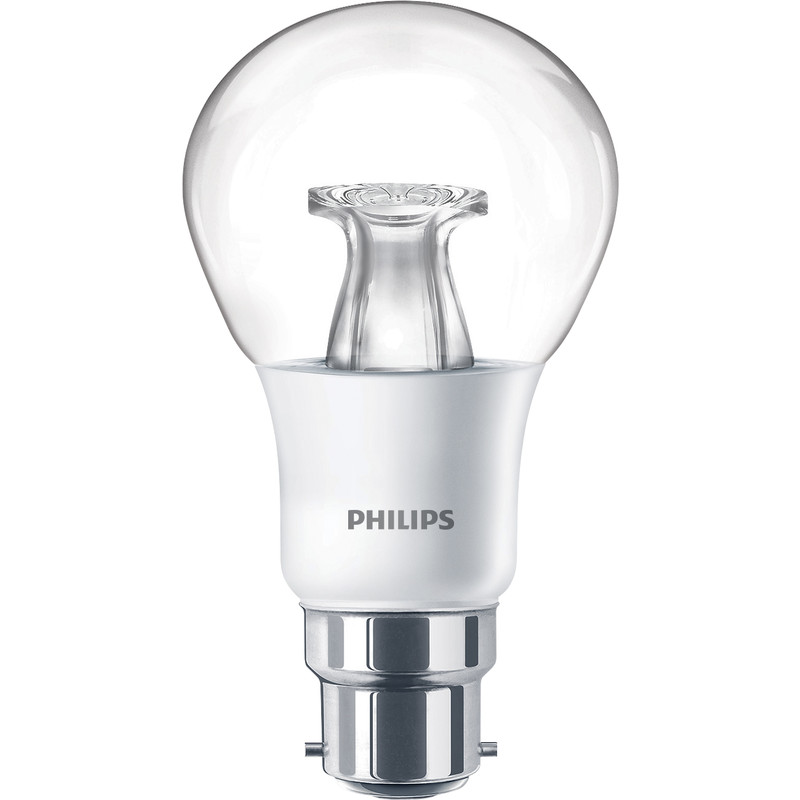 philips led warm glow dimmable a shape lamp 6w bc b22d 470lm toolstation. Black Bedroom Furniture Sets. Home Design Ideas