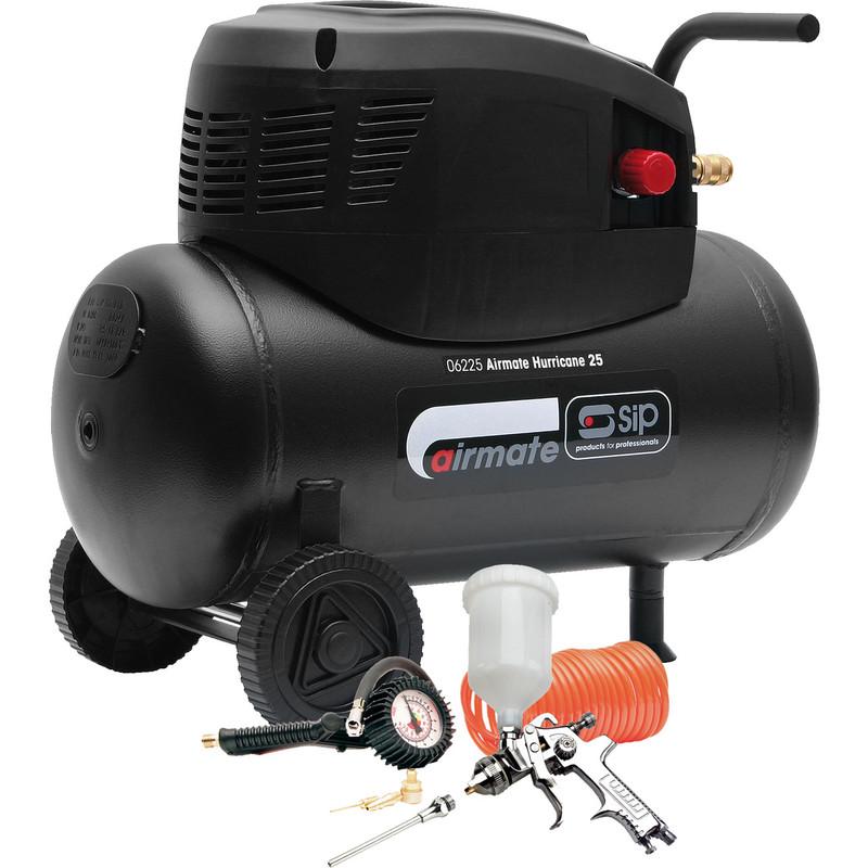 Sip 24l Compressor 7 Piece Accessory Kit 240v